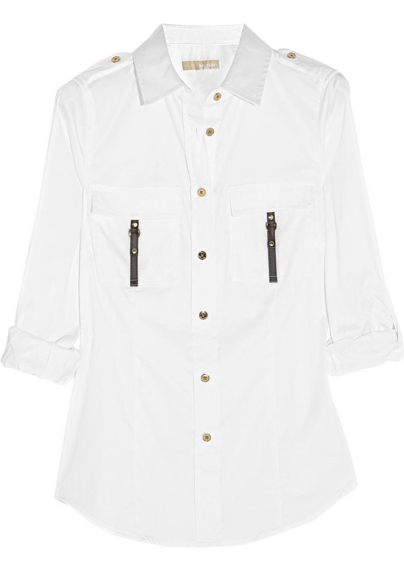MICHAEL Michael Kors Stretch cotton-blend shirt