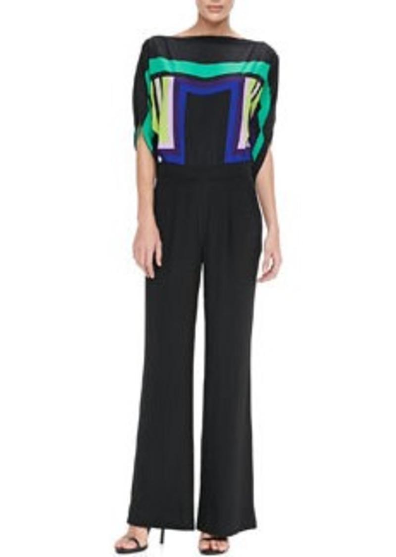 Diane Von Furstenberg Lucy Jumpsuit with Wide Leg Pants   Lucy Jumpsuit with Wide Leg Pants