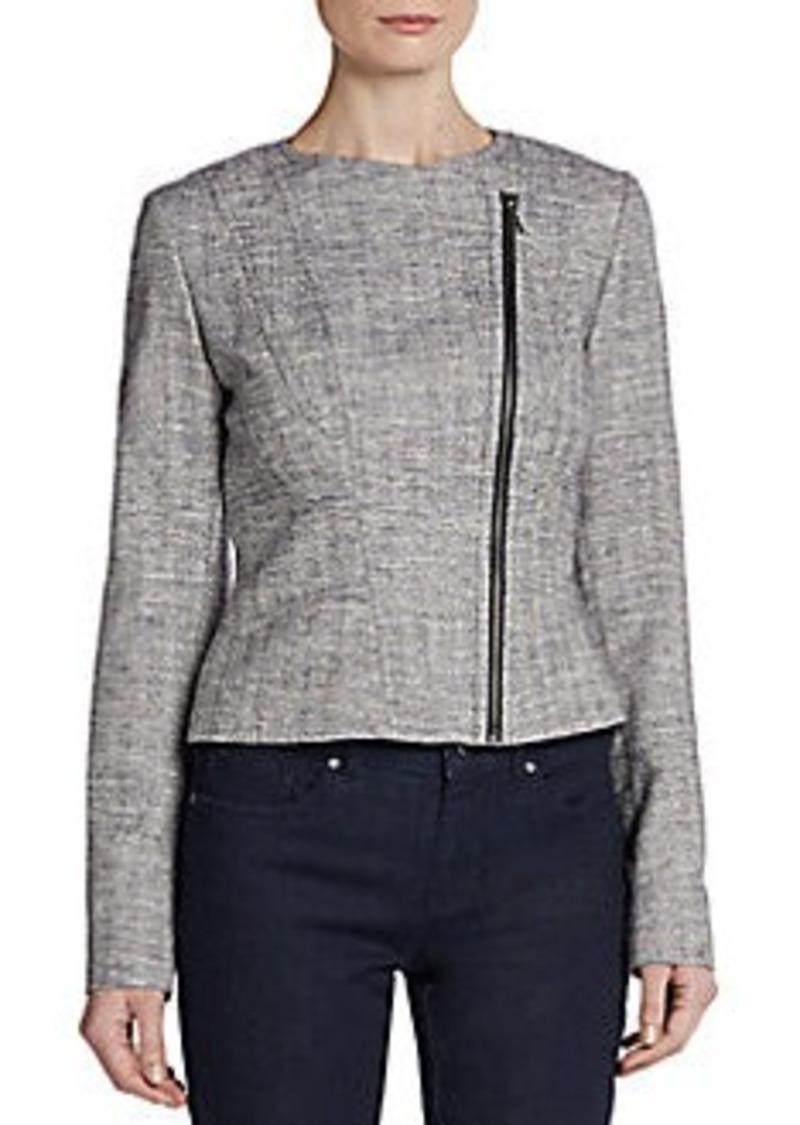 Tahari Seamed Tweed Jacket
