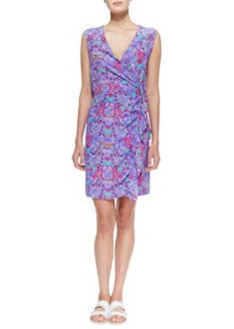 Nanette Lepore Printed Ruffled Silk Dress