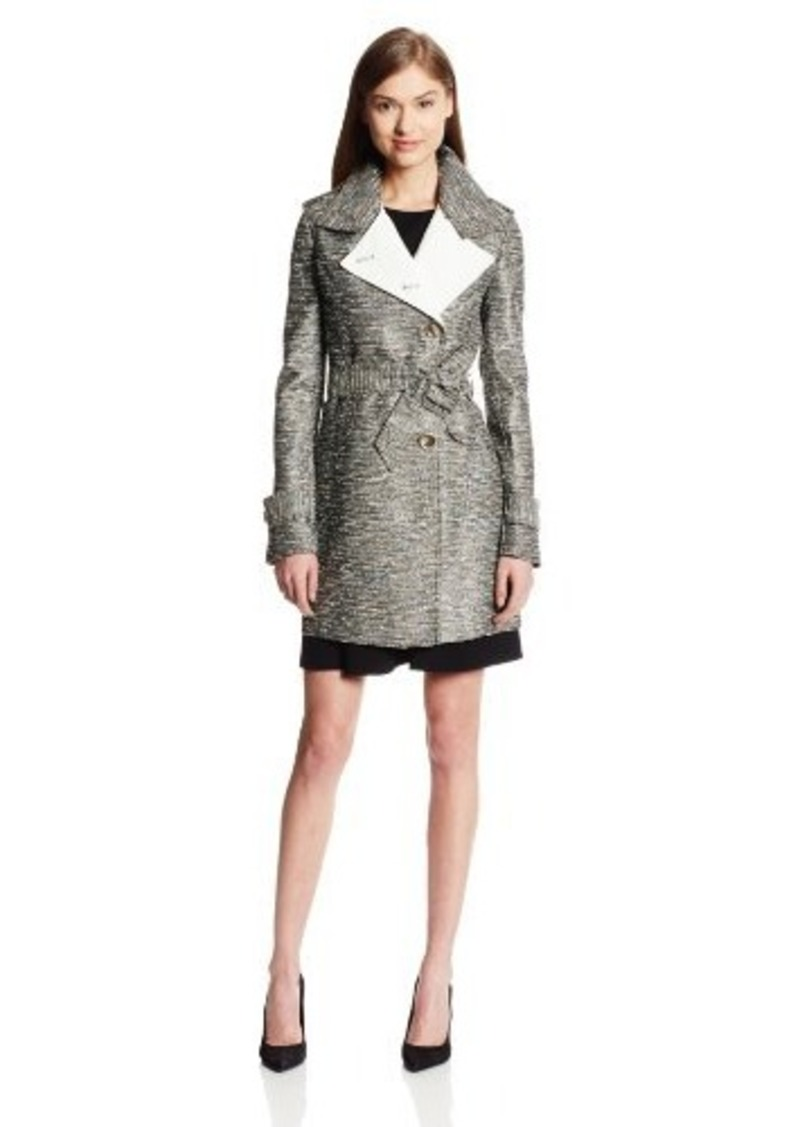 Kenneth Cole New York Women's Textured Belted Trench Coat