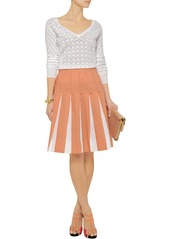 Marni Two-tone pleated cotton skirt