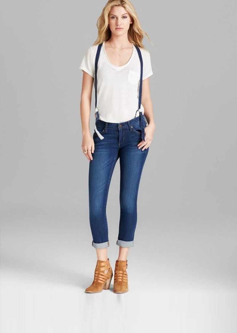 James Jeans - Jojo Slouchy Suspender Boyfriend in Coastal