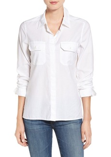 AG 'Ace' Split Hem Cotton Shirt