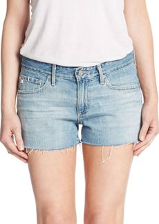 AG Adriano Goldschmied Bonnie Distressed Cut-Off Denim Shorts