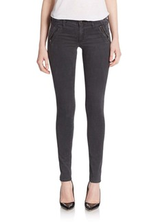 AG Adriano Goldschmied Willow Zip-Pocket Skinny Jeans
