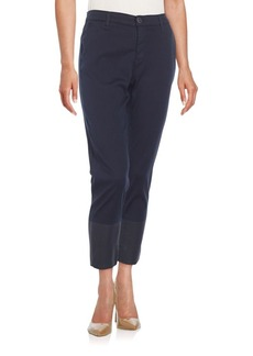 AG Adriano Goldschmied Tristan Cropped Coated-Ankle Trousers
