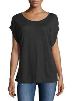 AG Converge Wrap Draped-Back Top