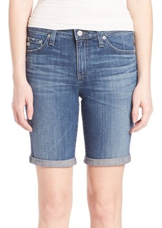 AG Denim Roll-Up Shorts