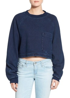 AG 'Indigo Capsule Collection - Cubo' Crop Sweatshirt