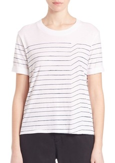 AG Pima Cotton Sonic Striped Tee