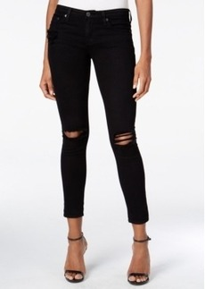 Ag Ripped Black Wash Ankle Leggings