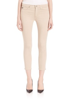 AG Sateen Prima Mid-Rise Crop Jeans