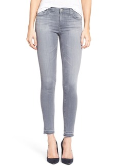 AG 'The Legging' Released Hem Ankle Skinny Jeans (Cool Grey)