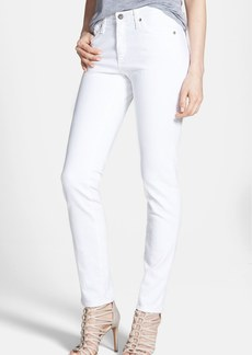 AG 'The Prima' Mid Rise Cigarette Jeans (White)