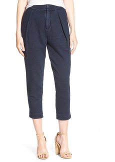 AG 'Indigo Capsule Collection - The Rhom' Crop Pleated Cotton Pants