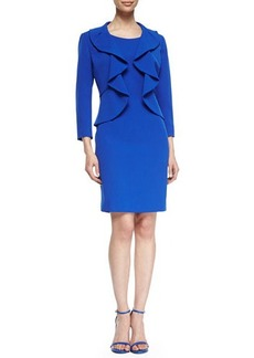 Albert Nipon Structured Crepe Dress Suit  Structured Crepe Dress Suit