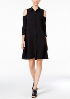 Alfani Cold-Shoulder Shirtdress, Only at Macy's