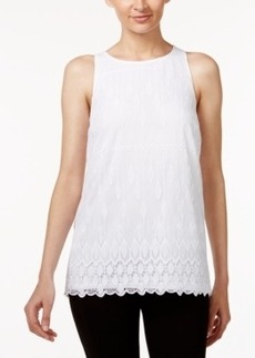 Alfani Embroidered Lace Top, Only at Macy's