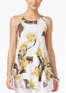 Alfani Floral-Print Swing Top, Only at Macy's