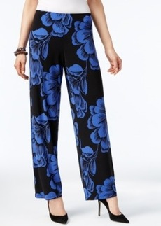 Alfani Floral-Print Wide-Leg Soft Pants, Only at Macy's