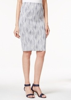 Alfani Jacquard Pencil Skirt, Only at Macy's