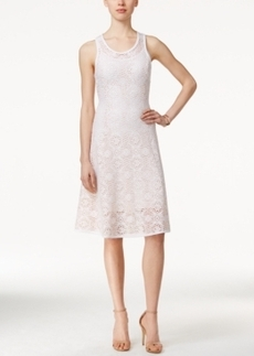 Alfani Prima Lace A-Line Dress, Only at Macy's
