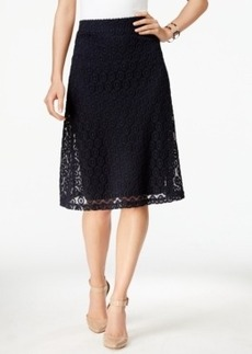 Alfani Lace A-Line Skirt, Only at Macy's