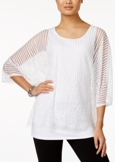 Alfani Lace Overlay Top, Only at Macy's