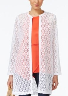 Alfani Long Geometric Lace Cardigan, Only at Macy's