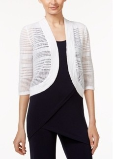 Alfani Mix-Stitch Bolero Cardigan, Only at Macy's