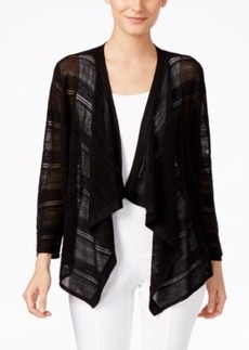Alfani Mixed Stitch Draped Cardigan, Only at Macy's