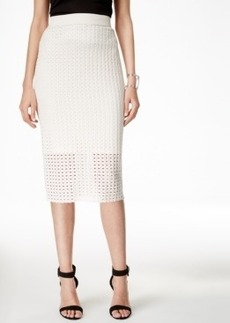 Alfani Perforated Pull-On Pencil Skirt, Only at Macy's