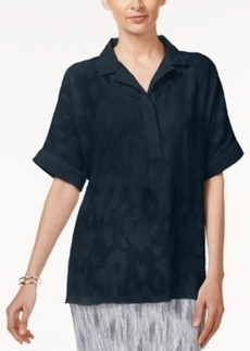 Alfani Petite Jacquard Shirt, Only at Macy's