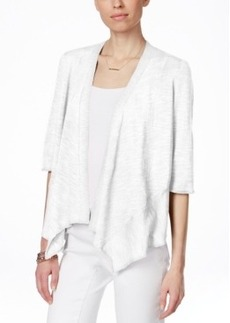 Alfani Petite Linen-Blend Open-Front Cardigan, Only at Macy's