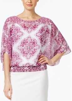 Alfani Petite Printed Dolman-Sleeve Blouse, Only at Macy's