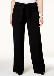 Alfani Plus Size Belted Wide-Leg Pants, Only at Macy's