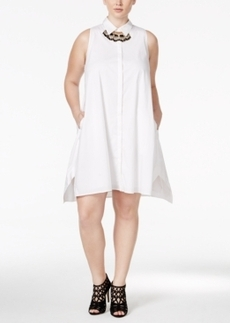 Alfani Plus Size Fit & Flare Shirtdress, Only at Macy's