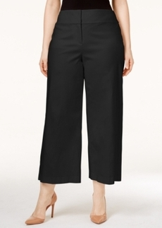 Alfani Plus Size Fly-Front Culottes, Only at Macy's