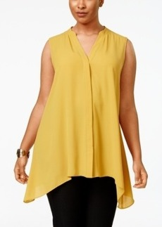Alfani Plus Size Handkerchief-Hem Top, Only at Macy's