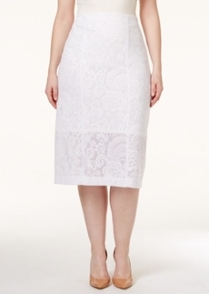 Alfani Plus Size Lace Midi Pencil Skirt, Only at Macy's