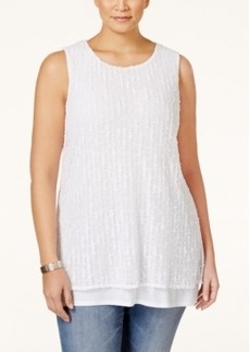 Alfani Plus Size Layered Tank Top, Only at Macy's