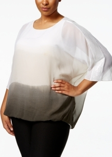 Alfani Plus Size Ombre Sequined Top, Only at Macy's