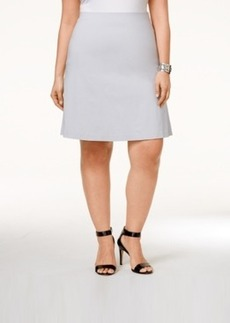 Alfani Plus Size Pull-On A-Line Skirt, Only at Macy's