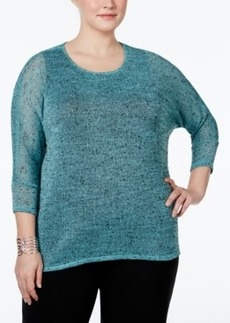 Alfani Plus Size Scoop-Neck Dolman-Sleeve Top, Only at Macy's