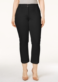 Alfani Plus Size Skinny-Leg Capri Pants, Only at Macy's
