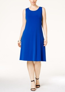 Alfani Plus Size Sleeveless A-Line Dress, Only at Macy's