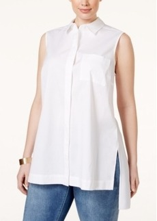 Alfani Plus Size Sleeveless High-Low Shirt, Only at Macy's
