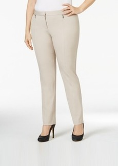 Alfani Plus Size Zip-Trim Skinny Pants, Only at Macy's