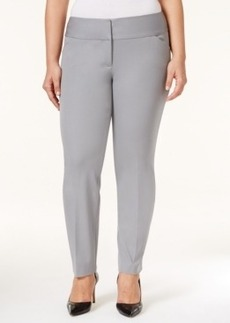 Alfani Plus Size Wide-Waistband Tapered-Leg Pants, Only at Macy's